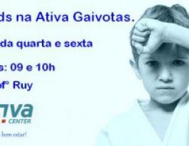 Taekwondo kids na Ativa de Gaivotas.